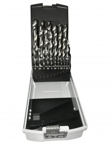 HSSG Spiralbohrersatz 1-13mm (25tlg) in RoseBox