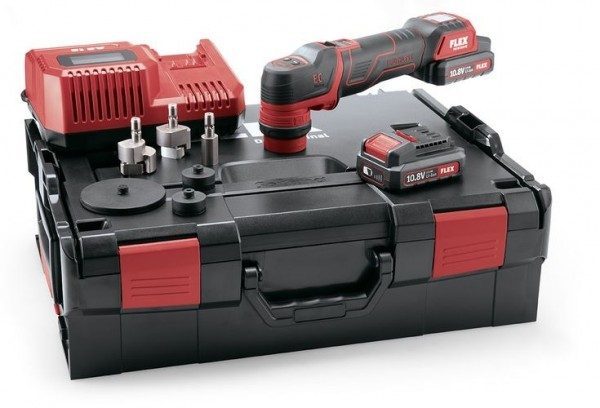 FLEX Akku-Polierer 10,8V PXE 80 10.8-EC/2.5 Set
