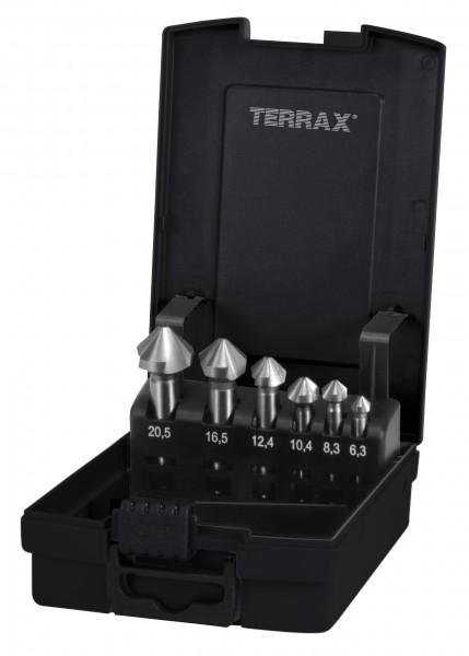 Ruko/TerraX Dreischneidersatz 6,3-20,5mm RoseBox