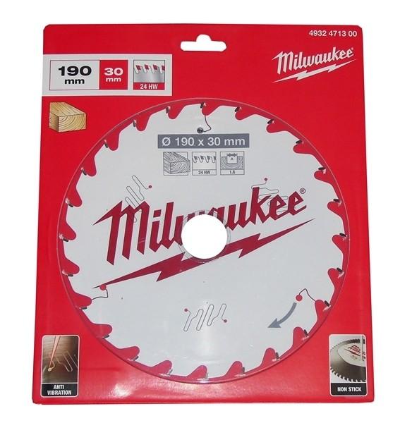 Milwaukee HM-Kreissägeblatt D.190x30x1,6mm Z=24 HW