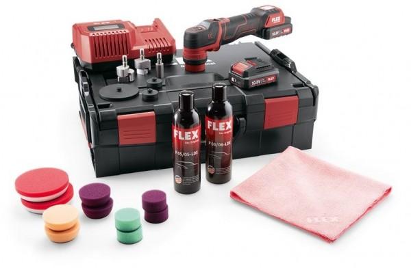 FLEX Der smarte Akku-Polierer 10,8V PXE 80 10.8-EC/2.5 P-Set