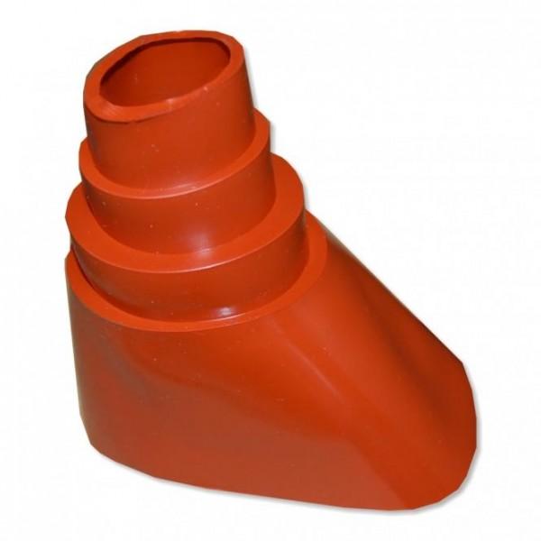 Gummitülle /-Stutzen *uni* für Mastziegel Rot
