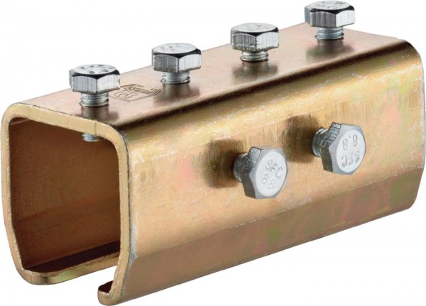 Verbindungsmuffe -03 1303 Profil 300 Stahl galvanisch gelb verzinkt HELM