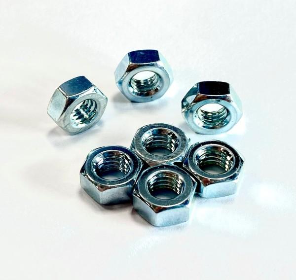 Muttern 6-knt DIN 934-8 M 6 verzinkt Kleinpack 100 Stück