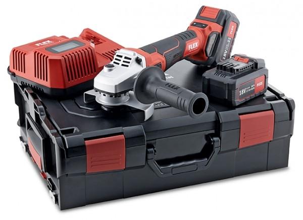 FLEX Akku-Winkelschleifer regelbar LBE 125 18.0-EC/5.0 Set L-Boxx 2xAkku 18V 5Ah