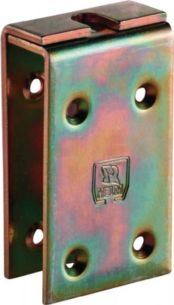 Verstärkungslasche -98 198 Profil 100 Stahl galvanisch gelb verzinkt HELM