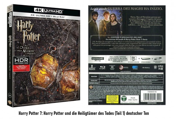 Harry Potter Teil 7 Folge 1 (4K Ultra HD +Blu-ray) Ton Deutsch 2 Disc`s