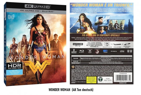4K Ultra HD Blu-ray Wonder Woman (4K Ton Deutsch)