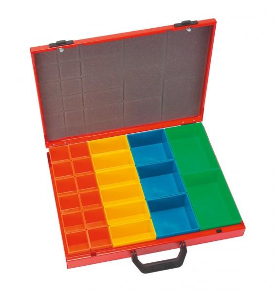 Sortimentskoffer mit 23 Boxen 450x345x68mm SK23