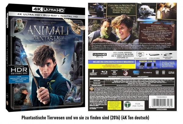 4K Blu-ray Phantastische Tierwesen und wo sie zu finden sind (4K Ton Deutsch)