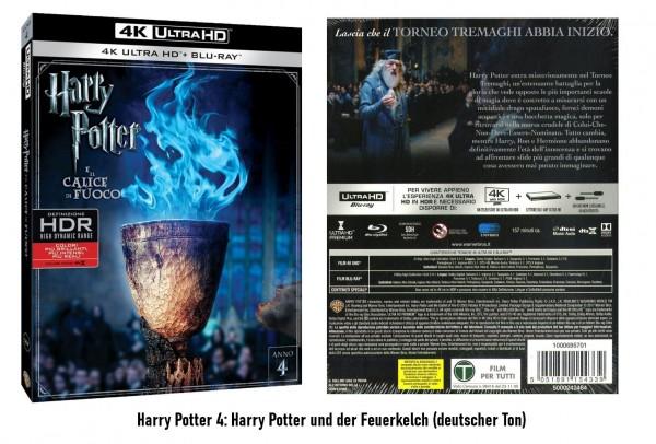 Harry Potter und der Feuerkelch (Teil 4) (4K UltraHD +Blu-ray) Ton Deutsch (2 Disc)