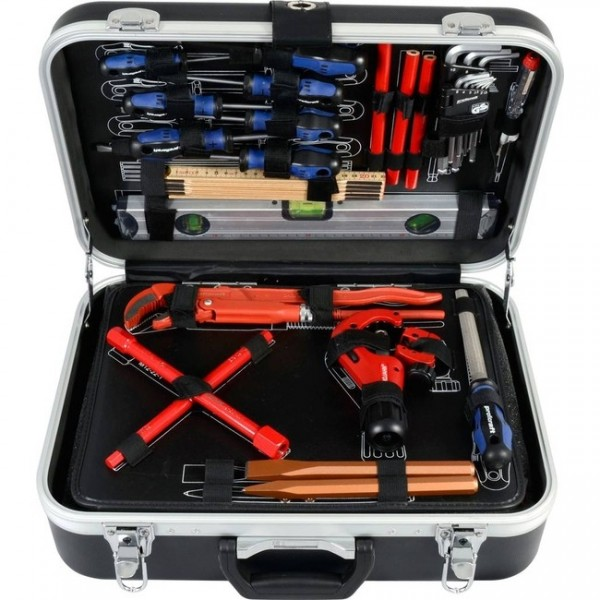 PROJAHN Sanitär Werkzeugkoffer 95-tlg 1/4 +1/2 Zoll