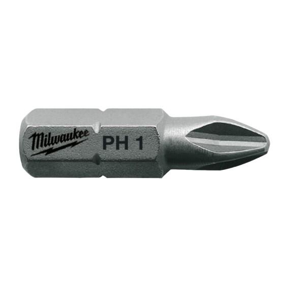 Milwaukee Standard Schrauberbit PH1/2/3 mit 25 mm (25er Pk)