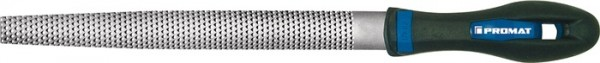 Holzraspel DIN 7263 C Länge 250 mm Querschnitt 25 x 7 mm Hieb 2 halbrund 2K-Ergo PROMAT