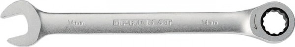 Maulringratschenschlüssel Schlüsselweite 11 mm Länge 168 mm gerade PROMAT