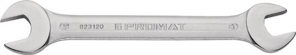 Doppelmaulschlüssel 20 x 22 mm Länge 235 mm verchromt PROMAT