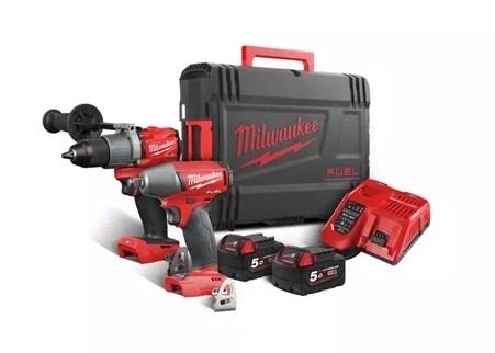 Milwaukee M18FPP2C2-502X COMBO-Kit (M18FPD2+M18FIWF12) 2xAkku 18V 5Ah