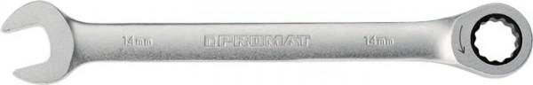 Maulringratschenschlüssel Schlüsselweite 18 mm Länge 239 mm gerade PROMAT