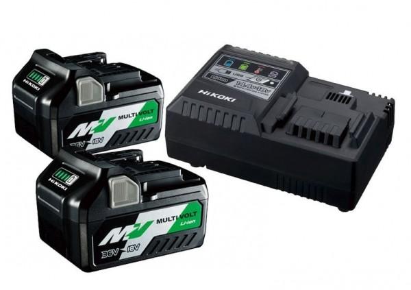 Hikoki BSL36B18x2 +UC18YSL3 36/18V Booster Pack 4,0/8,0Ah (2Akkus +Ladegerät)