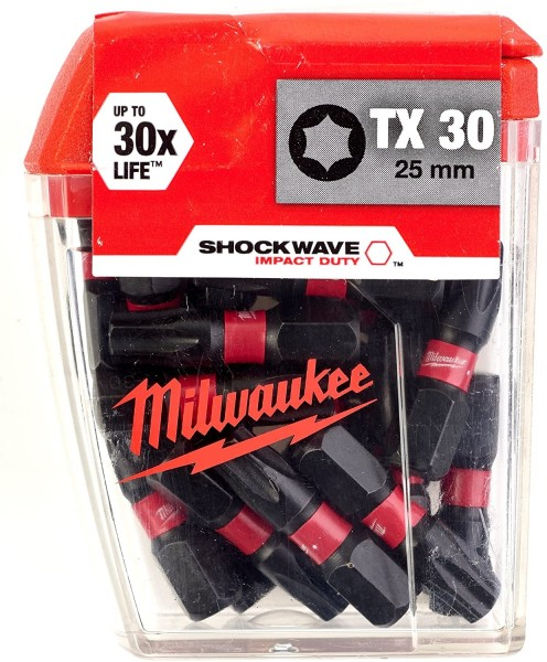 Milwaukee Schrauberbit SHOCKWAVE (2VE5) TX30 / 25 mm