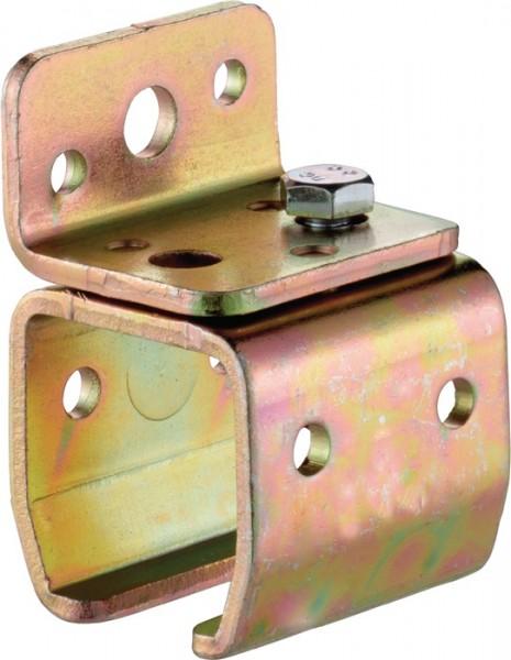Wandbefestigungsmuffe -01 Modell 301 Profil 300 Stahl galvanisch verzinkt HELM