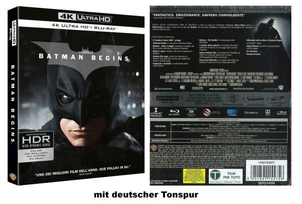 BATMAN BEGINS (4K Ultra HD +Blu-ray) Deutscher Ton 2-Disc`s