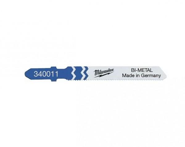 Milwaukee Stichsägeblätter Metall Bi-Metall 55 x 1,2 mm T118AF (5er Pack)