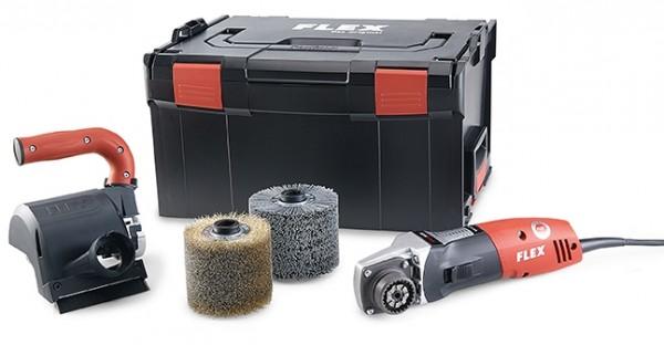 FLEX Bürstenmaschine BBE 14-3 110 Set 230/CEE in L-Boxx TRINOXFLEX