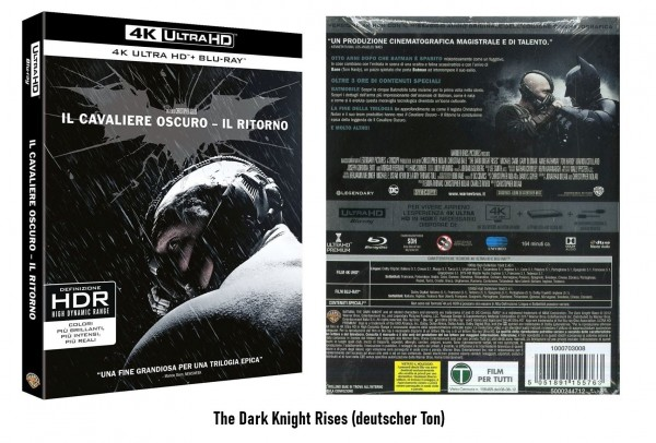 4K Blu-ray The Dark Knight Rises (Ton Deutsch)