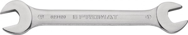 Doppelmaulschlüssel 13 x 14 mm Länge 186 mm verchromt PROMAT