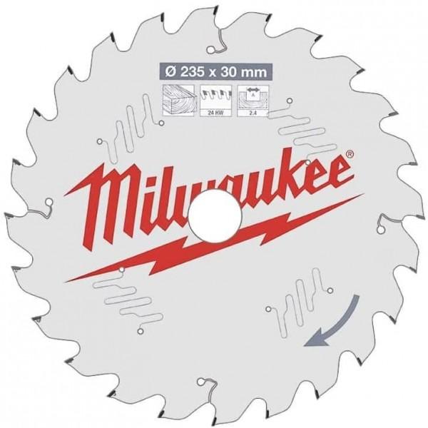 Milwaukee HM-Kreissägeblatt D.235x30x2,4mm Z=24 HW