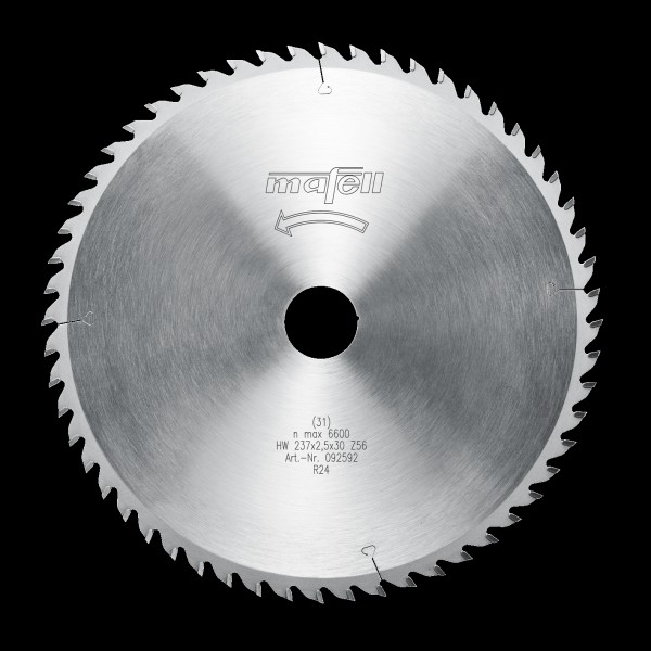 Mafell Sägeblatt-HM 237 x 1,8/2,5 x 30 mm, Z 56, W