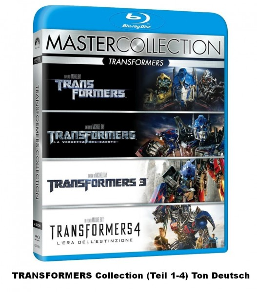 Transformers Collection / Quadrologie 1-4 (5 Blu-ray) ital. mit deutschem Ton