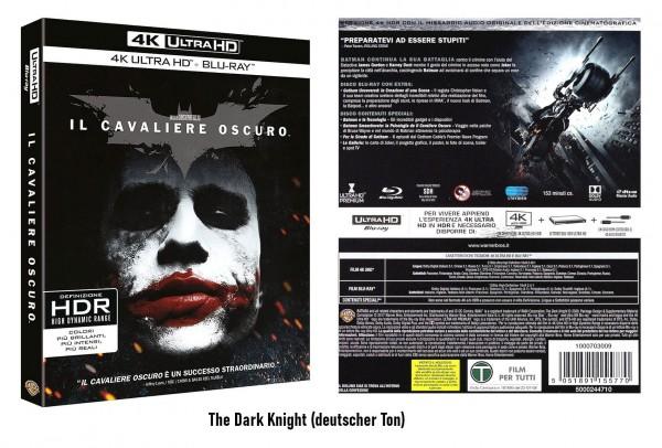The Dark Knight (4K Ultra HD +Blu-ray) Ton Deutsch