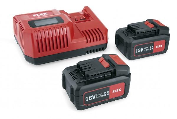 FLEX Akku-Kit *Power 55R* inkl. 2xAkku 18V 5Ah+Ladegerät