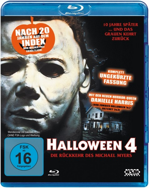 Halloween 4 - Die Rückkehr des Michael Myers (Uncut) [Blu-ray] NSM Wendecover
