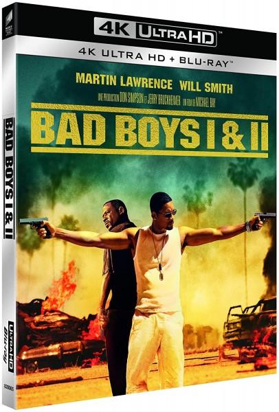 Bad Boys 1+2 (4K UltraHD+Blu-ray) deutscher Ton (W. Smith+M. Lawrence) FR Import